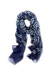 Joy Susan Accessories Navy Diamonds Scarf - Product Mini Image