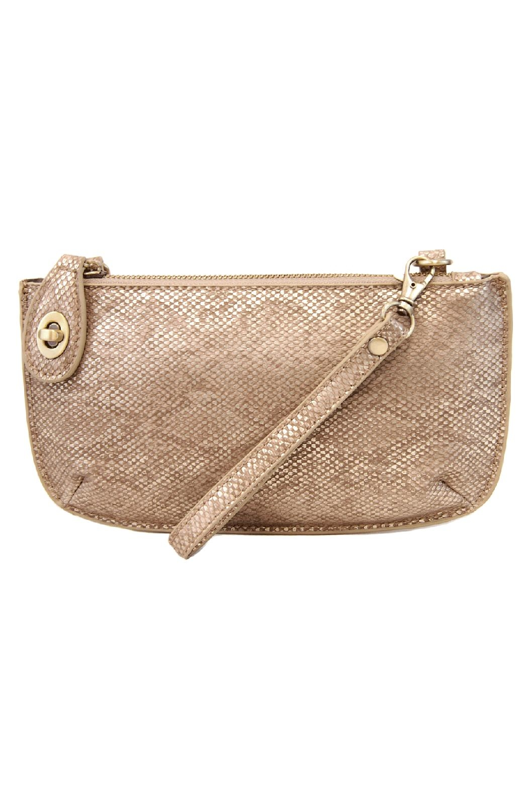Joy Susan Accessories Python Crossbody Clutch - Front Cropped Image