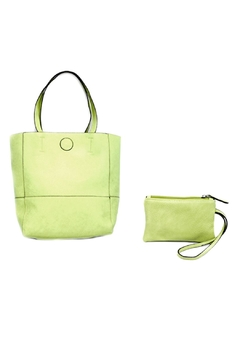 Shoptiques Product: Green Raw Edge Tote
