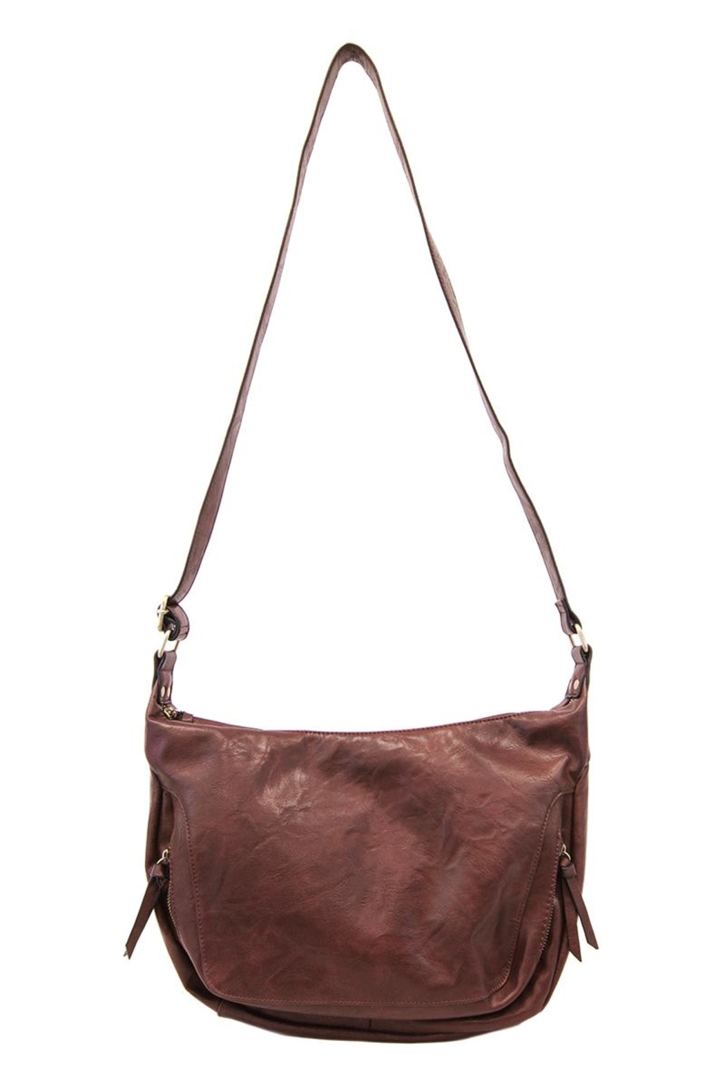 Joy Susan Accessories Vegan Distressed Hobo - Front Cropped Image