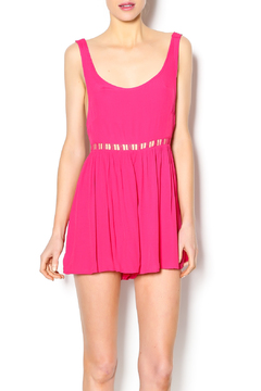 Joyce Pink Cover Up Romper - Product List Image