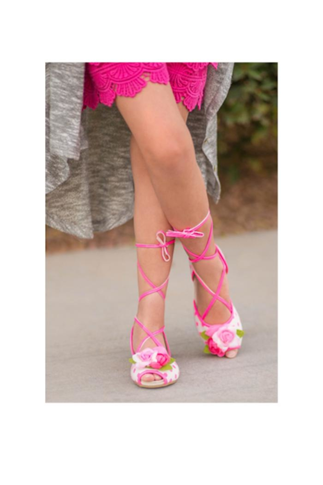 Joyfolie Pink Dot Shoes - Front Full Image
