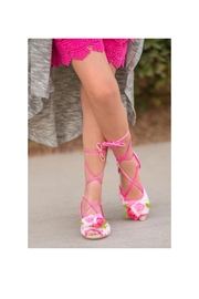 Joyfolie Pink Dot Shoes - Front full body