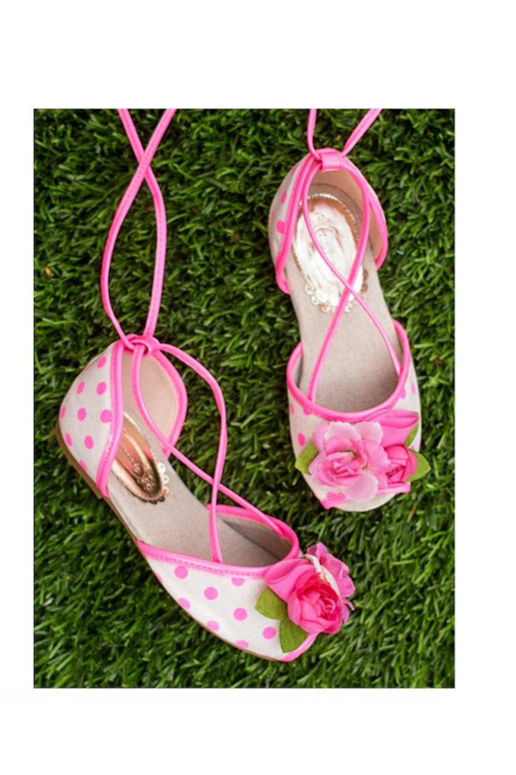 Joyfolie Pink Dot Shoes - Main Image