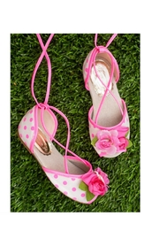 Joyfolie Pink Dot Shoes - Front cropped
