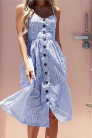 Esley Joyful Days Stripe Midi Dress - Product Mini Image