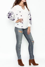 JoyJoy Embroidered Top - Side cropped