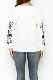 JoyJoy Embroidered Top - Back cropped