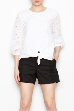 JoyJoy Eyelet Tie Front Top - Product List Image