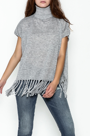 JoyJoy Fringe Turtleneck Top - Product Mini Image