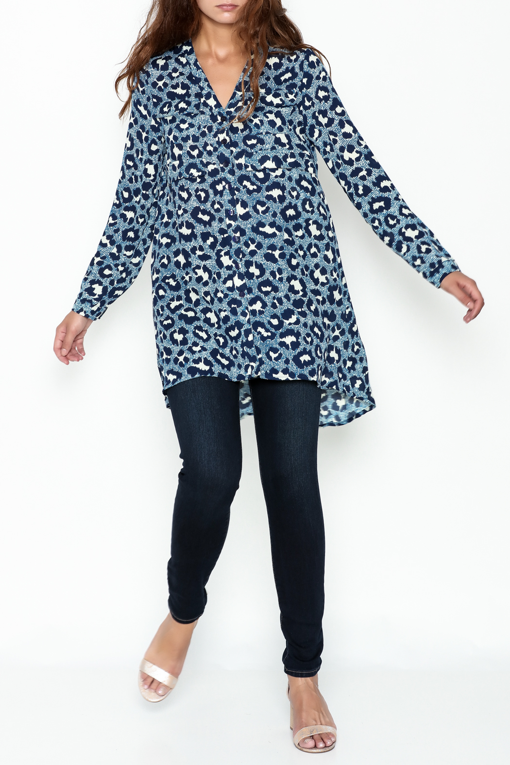 JoyJoy Leopard Tunic - Side Cropped Image