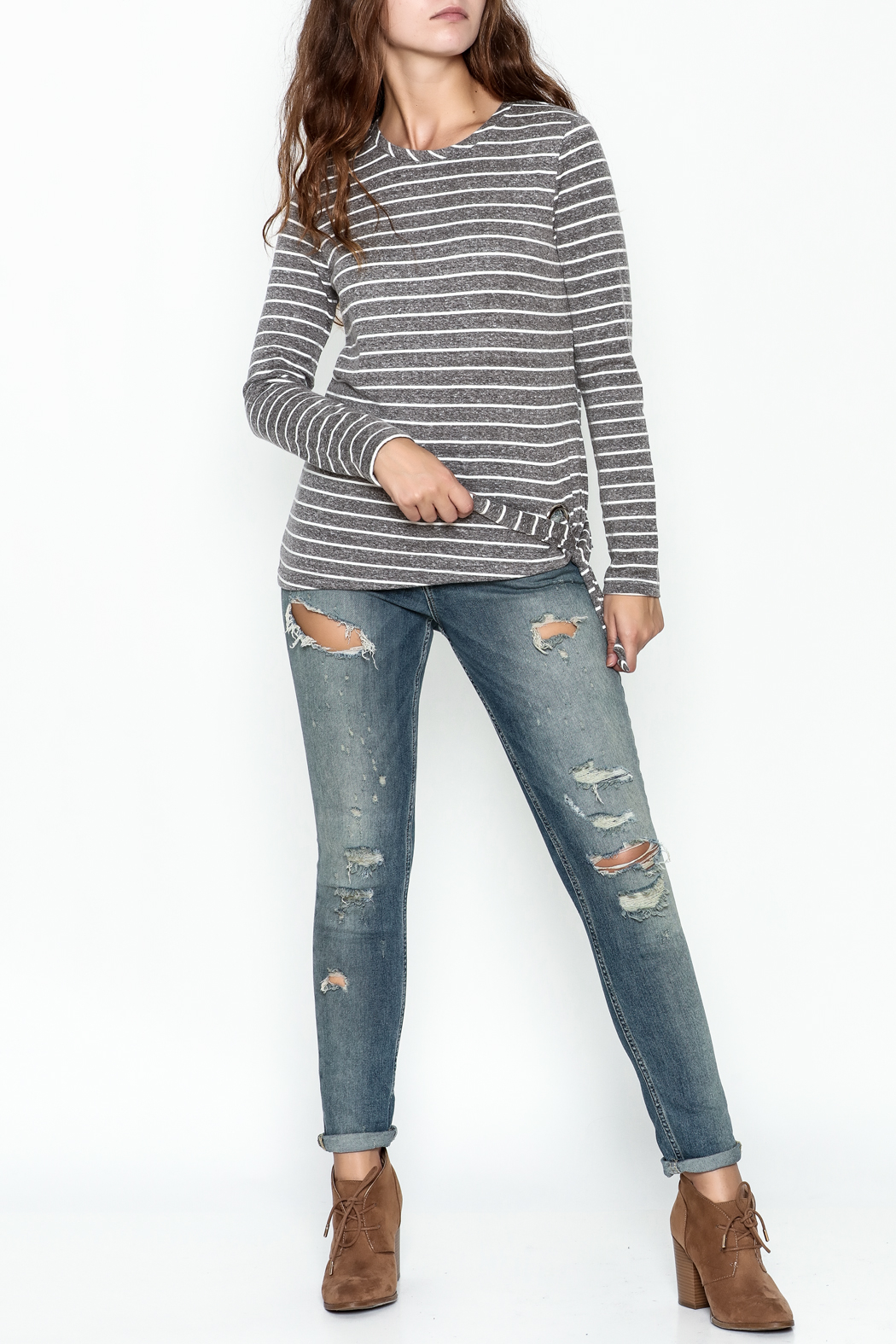 JoyJoy Striped Top - Side Cropped Image