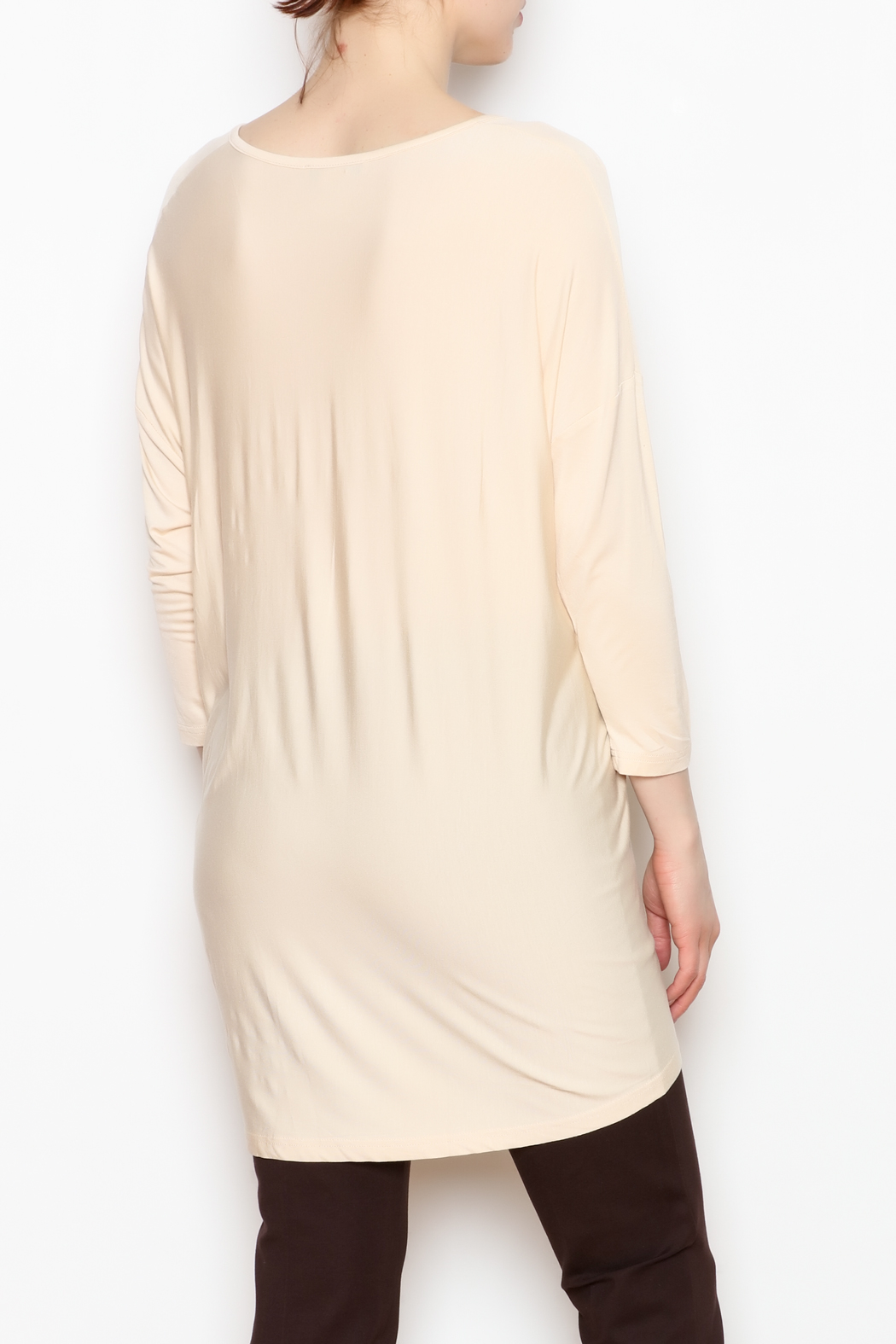 JoyJoy V-Neck Tunic - Back Cropped Image
