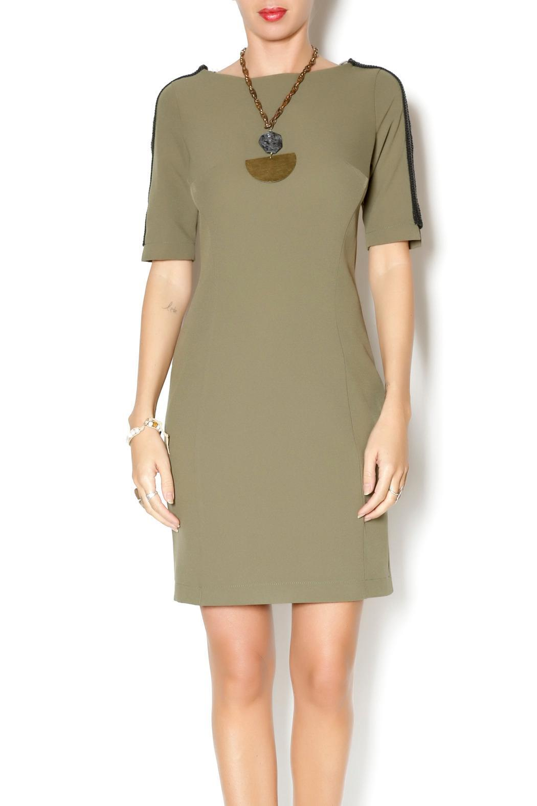 Joymiss Short Sleeve Fitted-Dress - Main Image