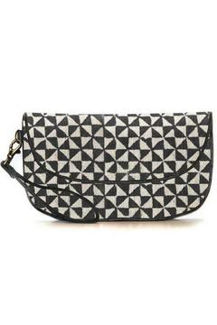 Shoptiques Product: Black Pinwheel Clutch