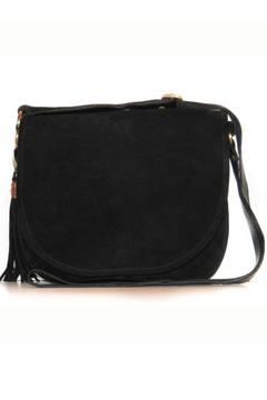 Shoptiques Product: Black Suede Satchel