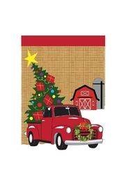 Jozie B Christmas Truck Flag - Front cropped