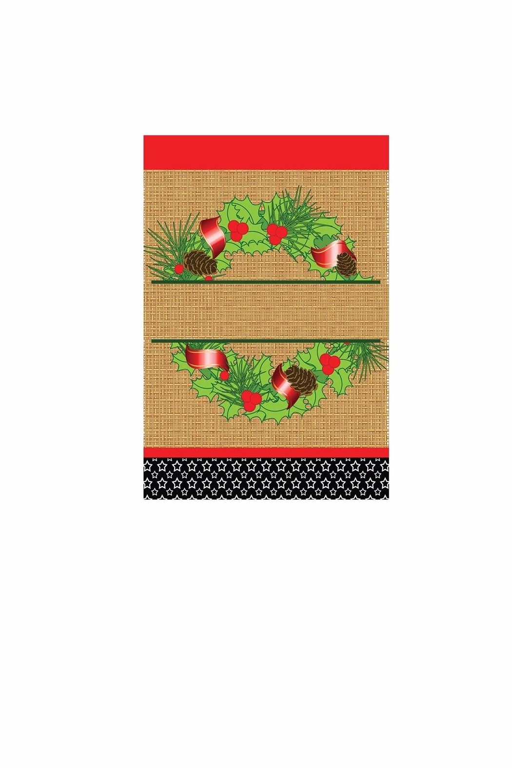 Jozie B Christmas Wreath Flag - Main Image