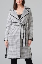 Joseph Ribkoff Plaid Trench Coat - Front cropped