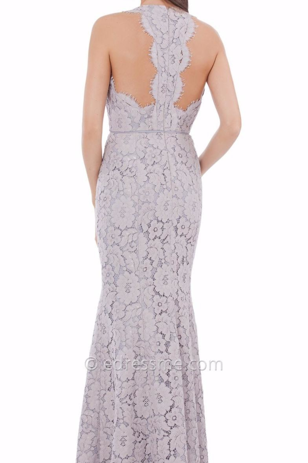 JS Collection Floral Lace T-Back Dress - Front Full Image