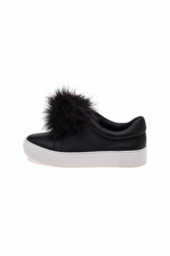 JSlides Black Slip-On Sneakers - Product List Image