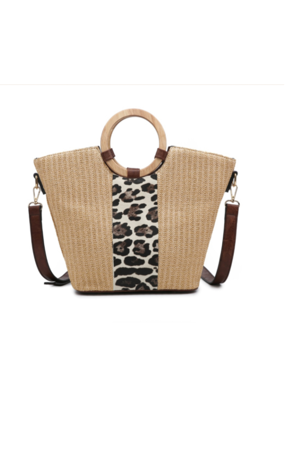 jen & co Juan Straw Tote - Front Cropped Image