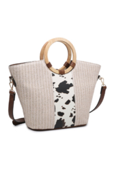 jen & co Juan Straw Tote - Product Mini Image