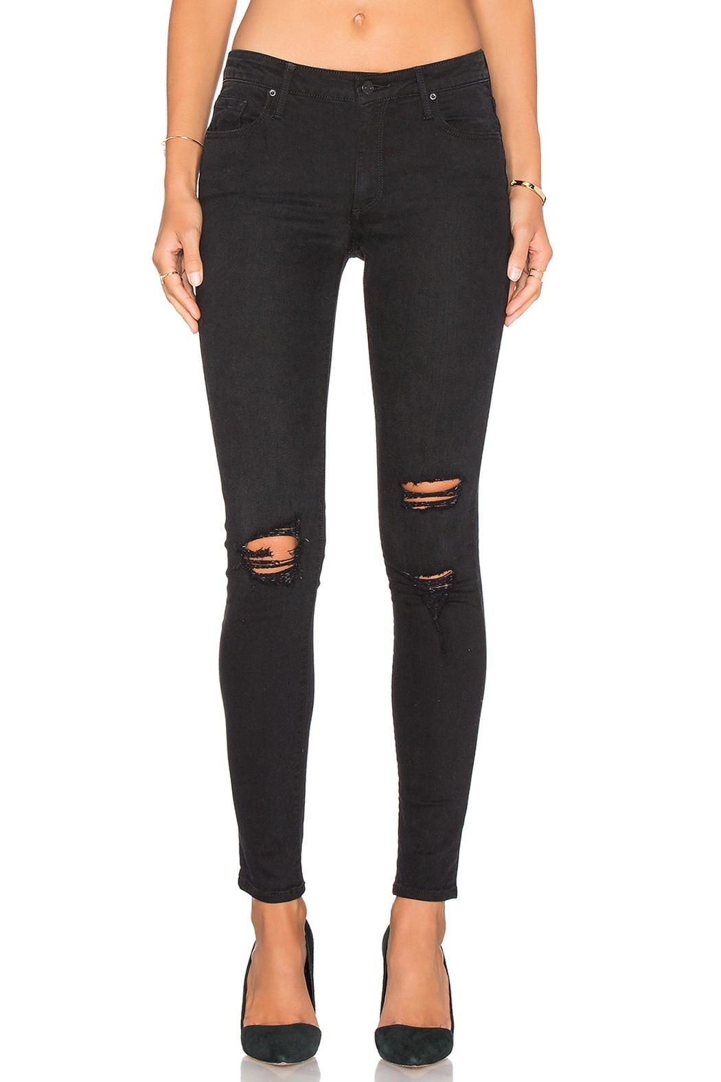 Black Orchid Denim Jude Mid Rise Super Skinny Denim - Front Full Image