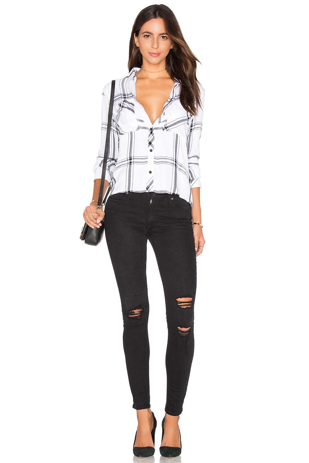 Black Orchid Denim Jude Mid Rise Super Skinny Denim - Back Cropped Image