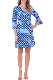 Jude Connally Megan Dress Circle-Ikat-Blue - Product Mini Image