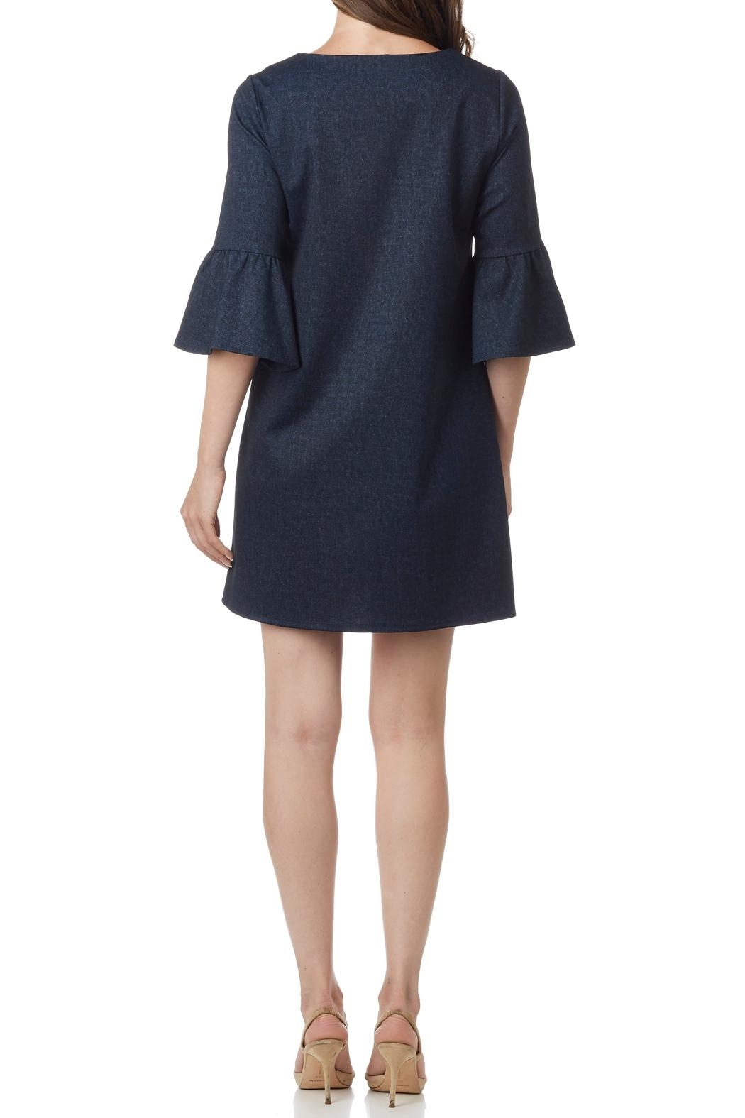 Jude Connally Shelby Club Denim Dress - Front Full Image