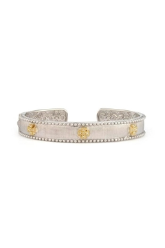 JudeFrances Jewelry Diamond Ss/18k Cuff - Alternate List Image