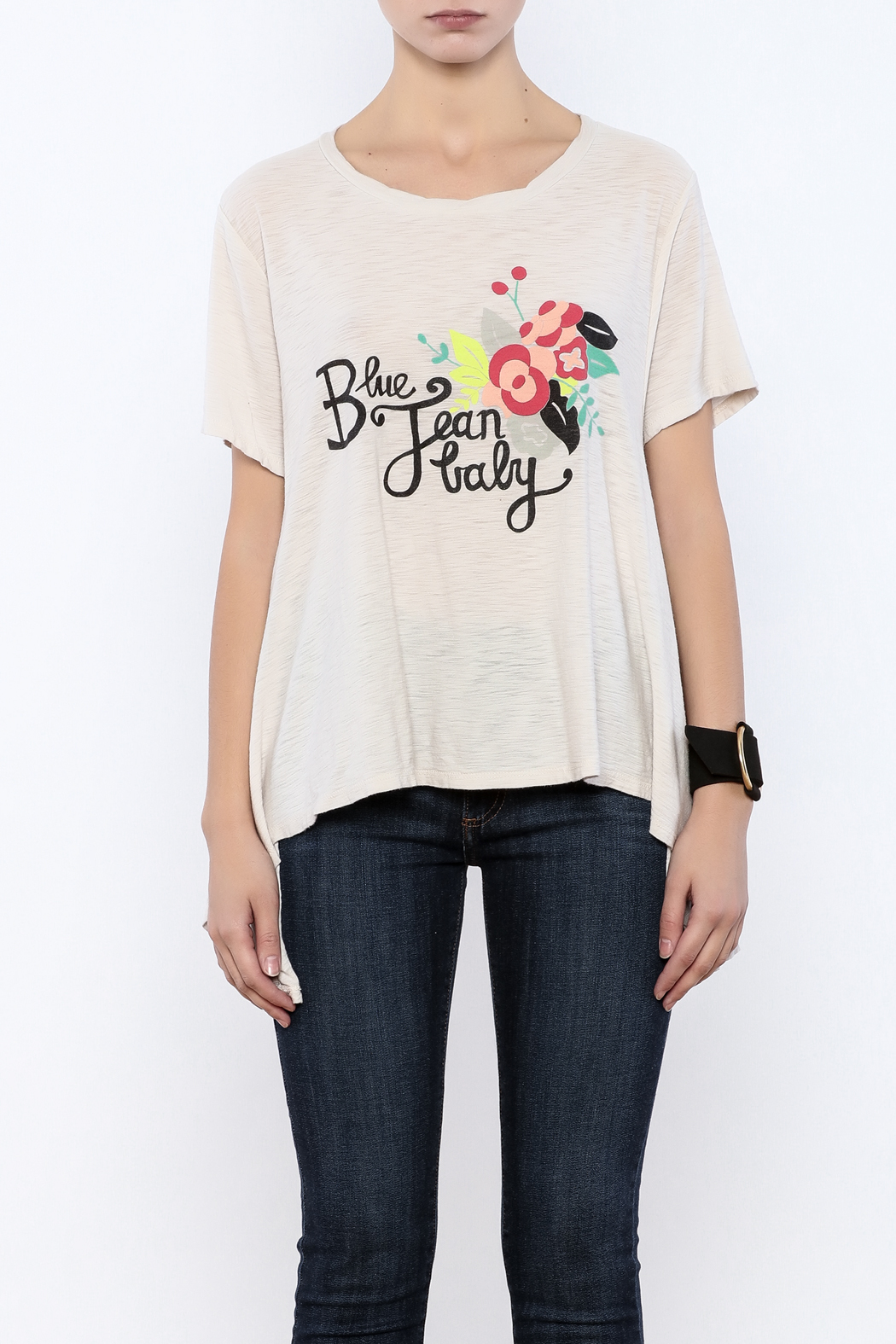 Judith March Blue Jean Baby Tee - Side Cropped Image