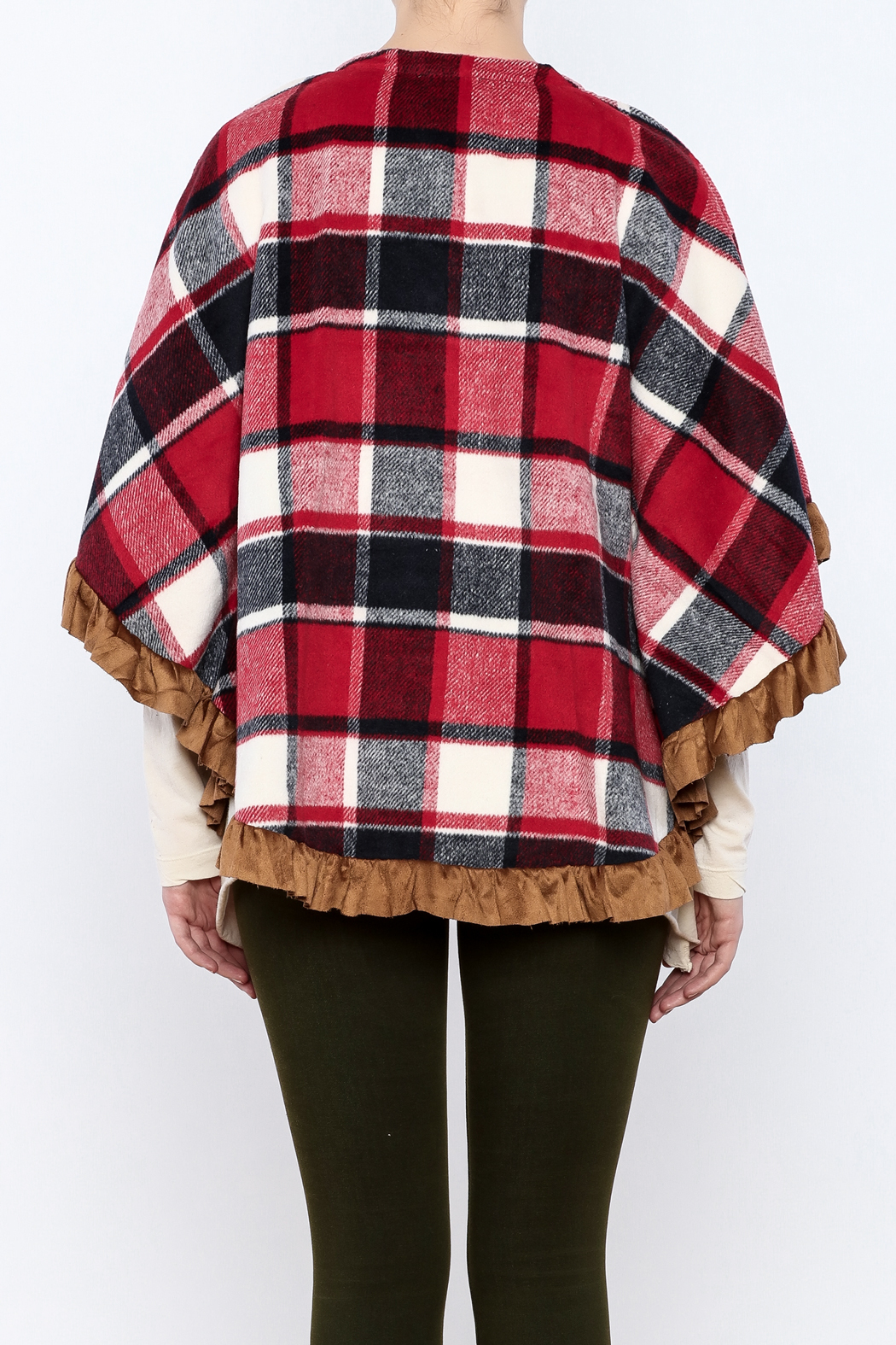 Judith March Boho Plaid Cover - Back Cropped Image