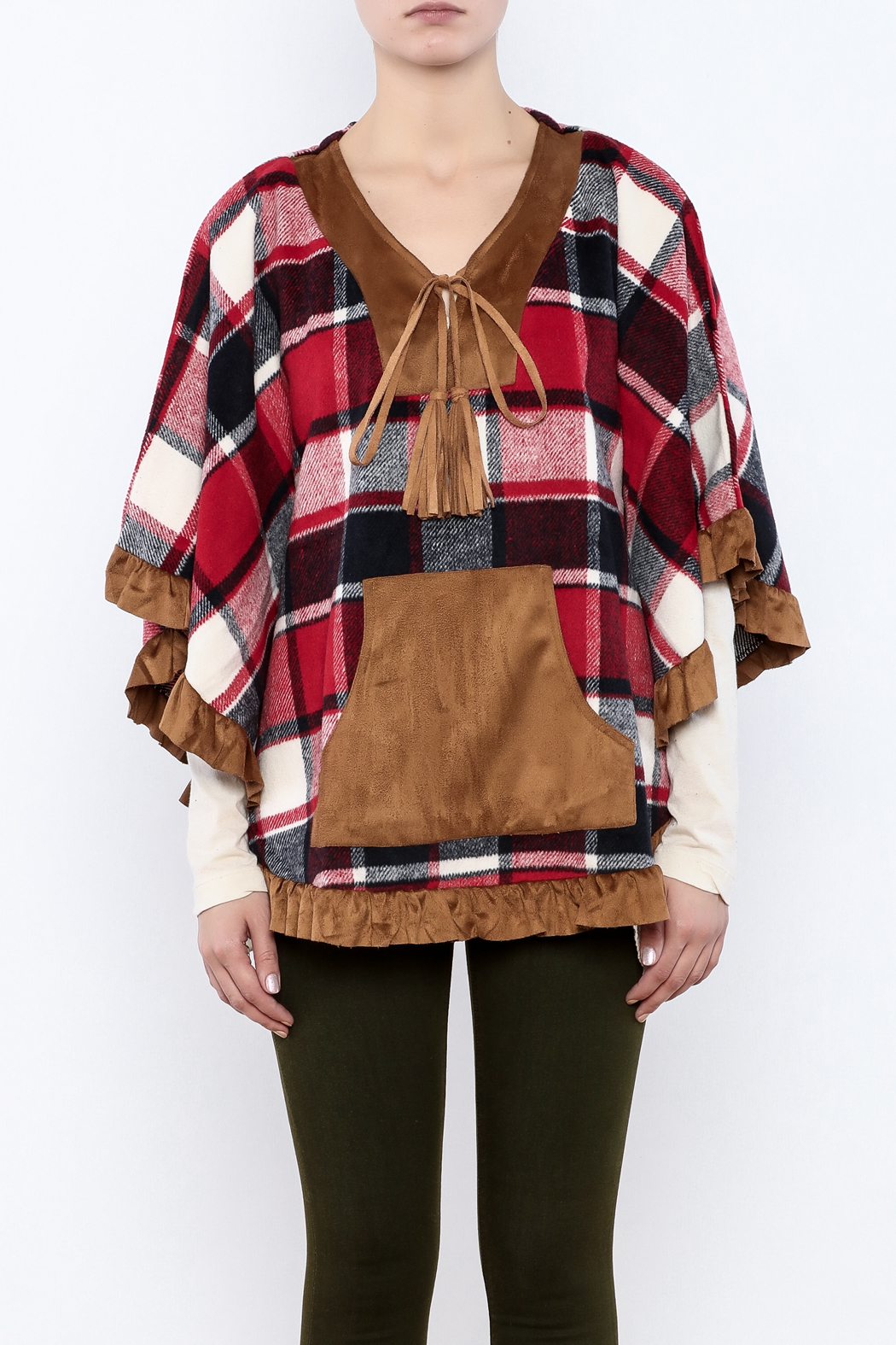 Judith March Boho Plaid Cover - Side Cropped Image