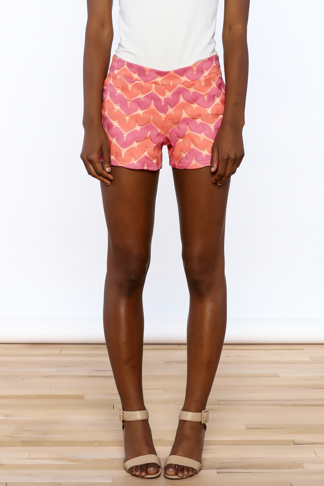 Judith March Bright Crochet Shorts - Side Cropped Image