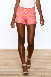 Judith March Bright Crochet Shorts - Front cropped