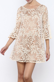 Judith March Cream Crochet Dress - Product Mini Image