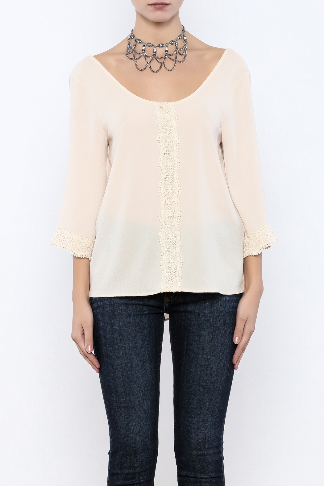 Judith March Crochet Long Sleeve - Side Cropped Image