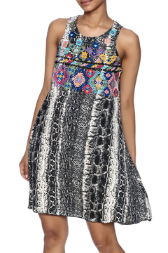 Shoptiques Product: Embroidered Snakeskin Dress