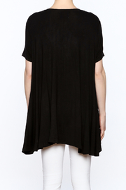 Judith March Feather Applique Top - Back cropped