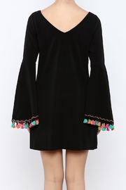 Judith March Festive Bell-Sleeved Dress - Back cropped