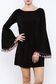 Judith March Festive Bell-Sleeved Dress - Product Mini Image