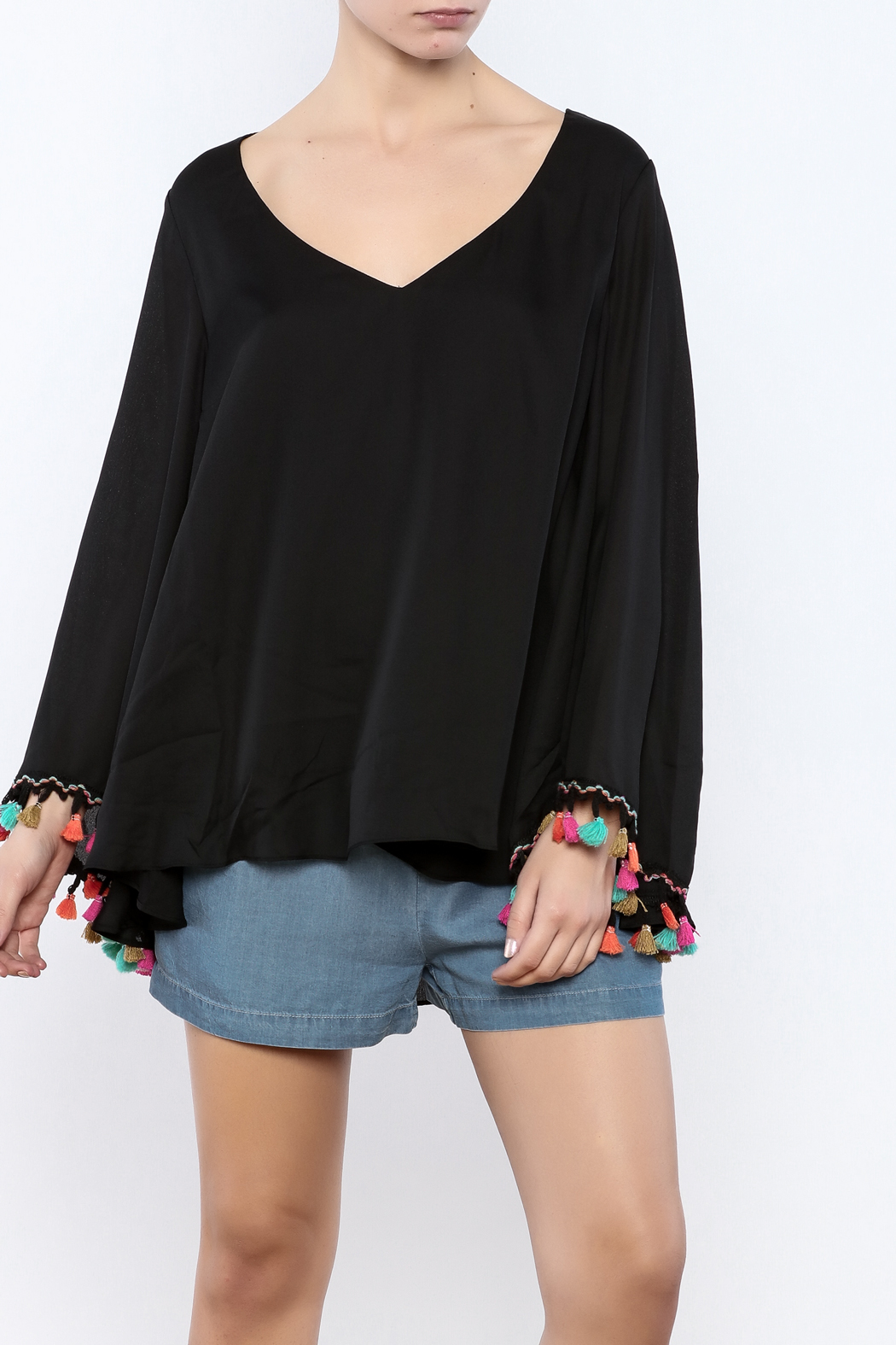 Judith March Festive Bell-Sleeved Top - Main Image