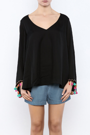 Judith March Festive Bell-Sleeved Top - Side cropped