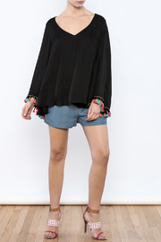 Judith March Festive Bell-Sleeved Top - Front full body
