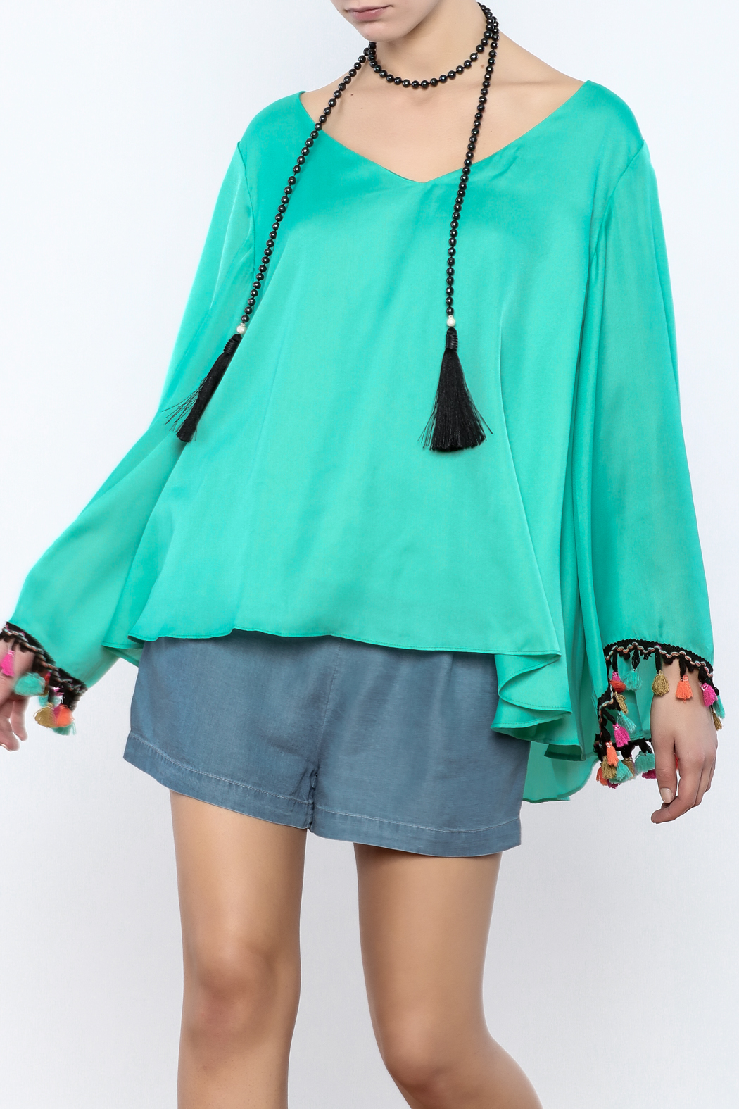 Judith March Festive Bell-Sleeved Top - Front Cropped Image