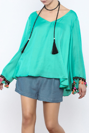 Judith March Festive Bell-Sleeved Top - Front cropped
