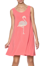 Judith March Flamingo Applique Dress - Product Mini Image