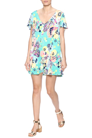 Judith March Japanese Floral Dress - Front full body